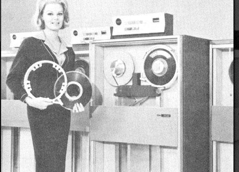 FLASHBACK: Data on Tape - The UNIVAC I (1951) started a new trend in data storage: magnetic tape. IBM soon began using reels of magnetic tape (similar to the audio tape of the time) for computer data storage, and the rest of the industry followed suit. Computer tape, usually stored in open reels, generally consisted of thin strips of plastic coated with a magnetically sensitive substance that computers wrote to and read from by means of electronic heads embedded in a special tape drive.