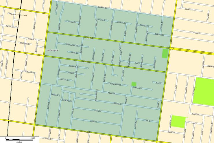 The section of Brunswick, Victoria being connected to a fibre network