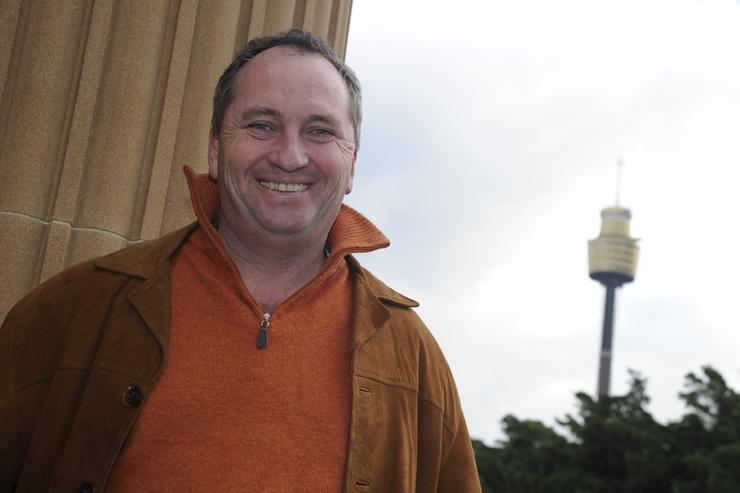 Senator Barnaby Joyce in Sydney