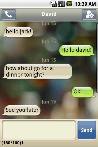 Forget the stock SMS utility. Handcent SMS brings customizable texting tools--with iPhone-style speech bubbles--to Android. Free