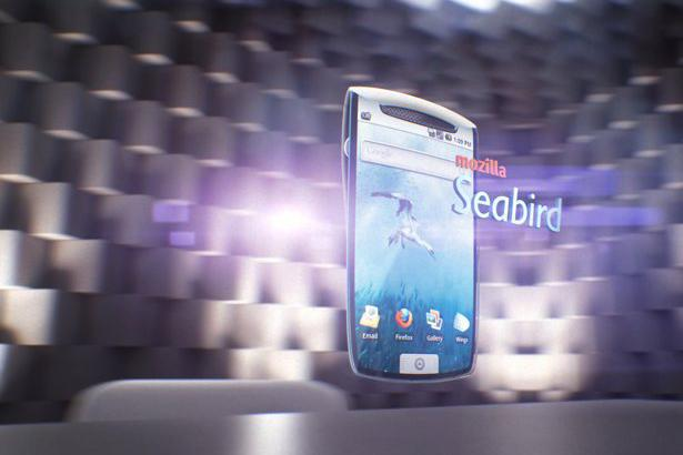 Mozilla Labs concept Seabird phone