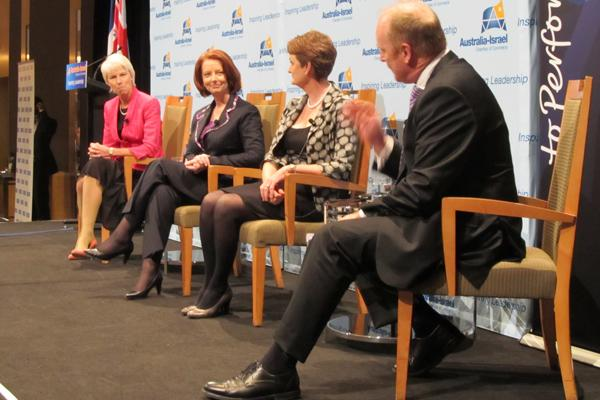 From left: Gail Kelly, Westpac; The Prime Minister, Julia Gillard; Catherine Livingstone, Telstra