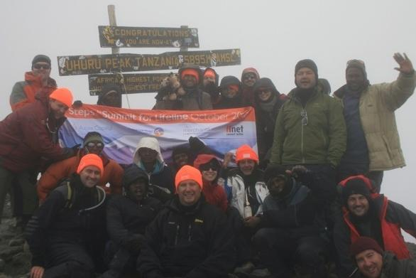 iiNet employees and friends raised over $100,000 for Lifeline Australia by climbing Mount Kilimanjaro.