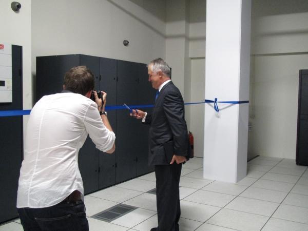 Malcolm Turnbull opens Vocus' new Sydney datacentre.