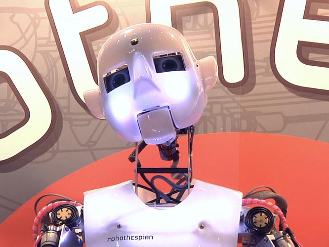 Reginald the RoboThespian was one of the stars at CeBIT