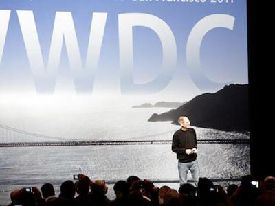 Apple boss, Steve Jobs, addresses the Worldwide Developers Conference in San Francisco