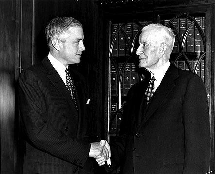 1952 - IBM's first president and CEO, Thomas Watson, passes the reins to Thomas Watson, Jr.