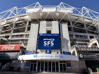 The new screen at Sydney Football Stadium
