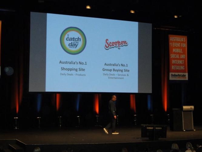 Catch of the Day director, Gabby Leibovich, speaks at the Online Retailer Conference and E-Commerce Expo in Sydney