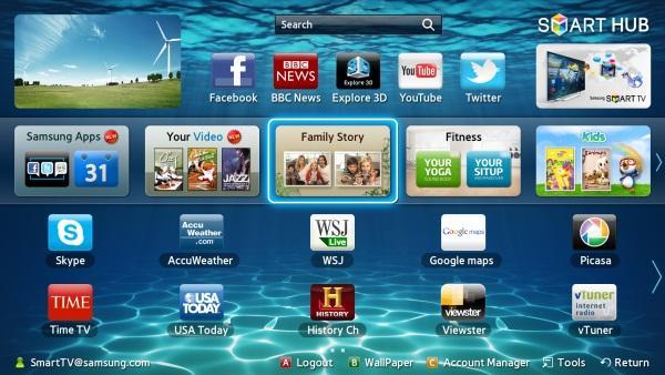 Super OLED TV Smart Hub UI