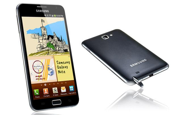 The Samsung Galaxy Note is one of four phones that will be updated to Google's Ice Cream Sandwich version of Android