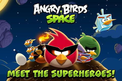 Angry Birds Space screenshot.