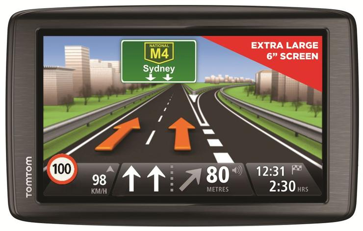The TomTom Via 620 GPS unit comes with a 6in screen