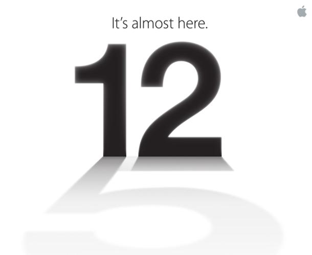Apple's invitation sent to the media for an event on September 12.