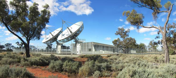 Rendered image of Bourke LTSS ground station.