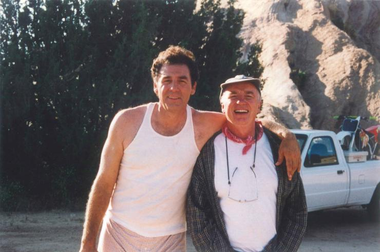 Australian director, David Parker (right), with Seinfeld star, Michael Richards, during the shooting of the Vodafone commercials