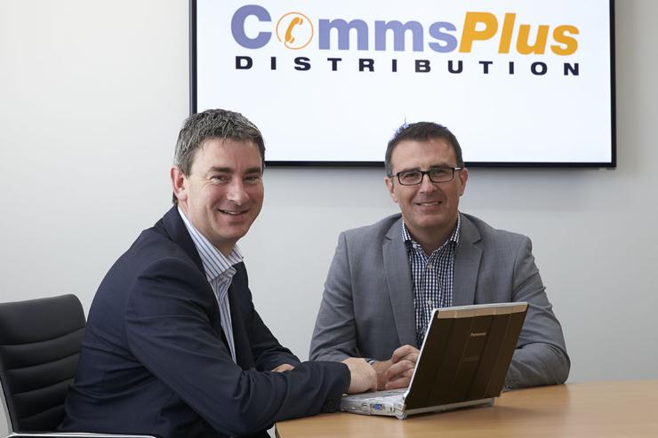 Panasonic's Cuckney and CommsPlus' McInnes