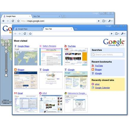 Google's Chrome Web browser for Windows