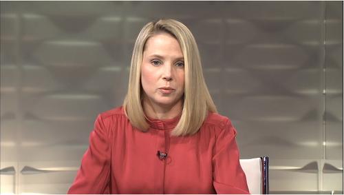 CEO Marissa Mayer presents Yahoo's earnings results
