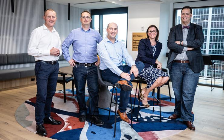 New team housed at the Microsoft Technology Centre, consisting of Leon Smith; Paul Kristensen; Tyrone Theodorides; Katharine Clement and Gary Buckmaster