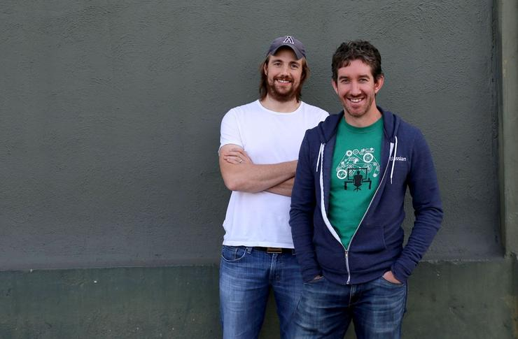Atlassian co-founders Mike Cannon-Brookes and Scott Farquhar