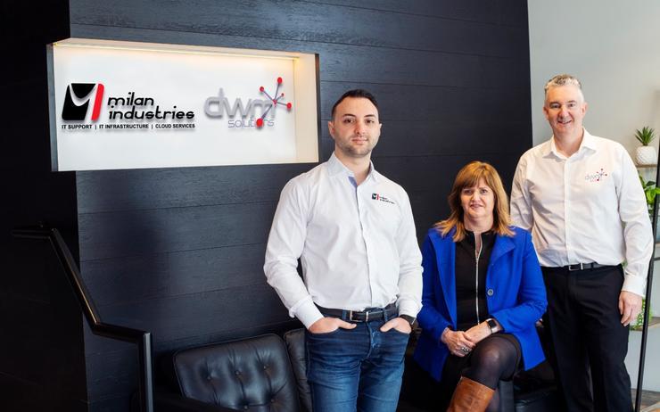 Milan Rajkovic (Milan Industries), Jeni Clift (DWM Solutions) and Nick Clift (DWM Solutions).