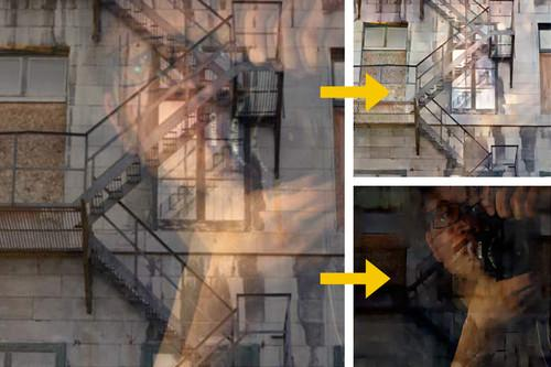 Researchers at MIT have developed an algorithm that can automatically separate window reflections from a digital image (left) and remove them (top right).