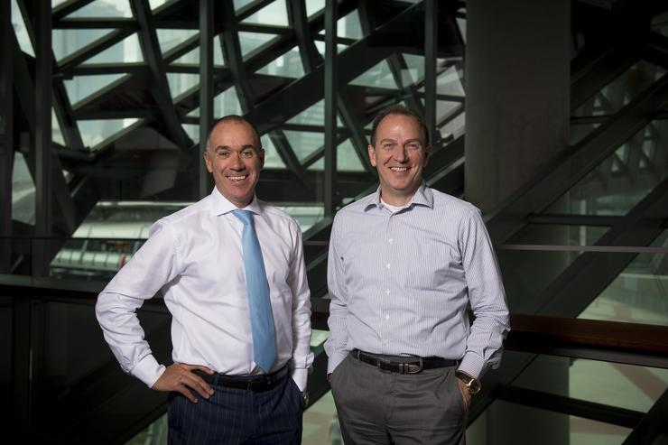 NAB CEO Andrew Thorburn and CTOO Patrick Wright