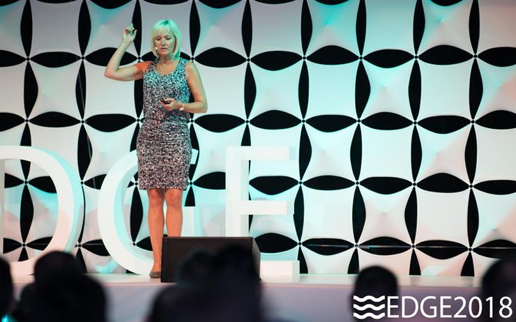Nancy Rademaker (Nexxworks) delivers the opening keynote at EDGE 2018