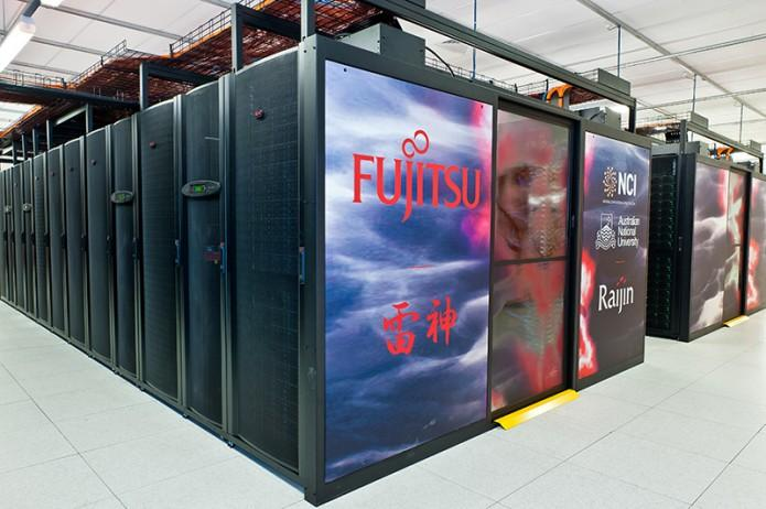 NCI's large-scale peak Fujitsu Primergy cluster system, Raijin. (NCI)