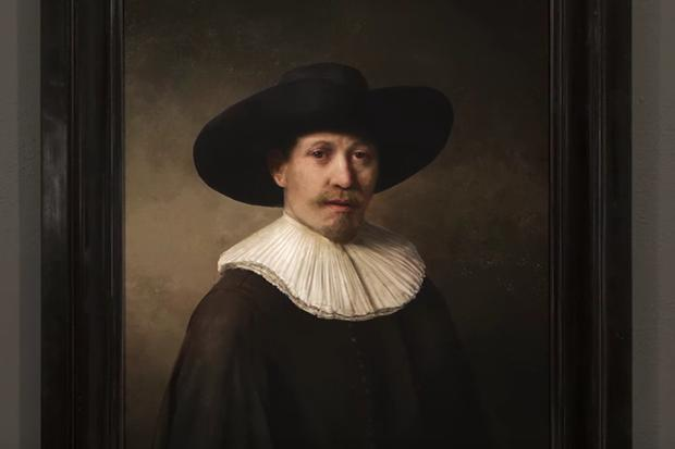 The Next Rembrandt, created using AI and a 3D printer. Credit: The Next Rembrandt