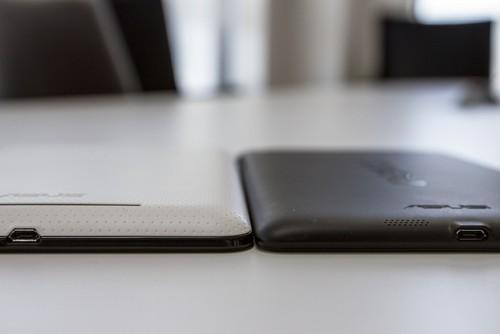 First generation Nexus 7 (left) with the new Nexus 7 (right).