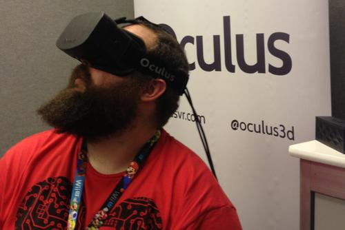People really want to play with the Oculus Rift virtual reality headset.