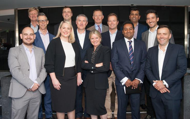 L-R: James Henderson (ARN); Rob McGregor (CRMNow); Mark Simpson (M-Power); Kirstie Smith (Deloitte); Sebastian Storey (Rubicon Red); Steve McLoughlin (Oracle); John Walters (Nextgen); Wendy O'Keeffe (Tech Data); Adrian Jones (Marketing Cube); Salil Akolkar (Oracle); Sachin Kulkarni (Cognizant Technology Solutions); Marcelo Scalia (Ekulus) and Phillip Milne (DXC Red Rock)