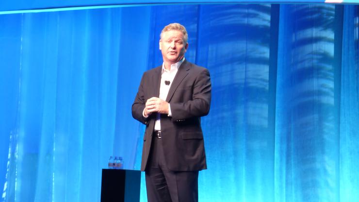 NetApp president, Rob Salmon, kicks off the general session
