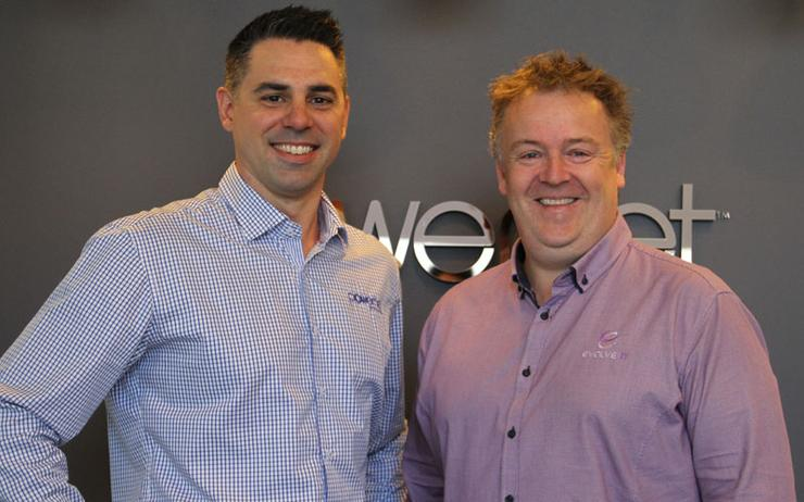 Daniel Williams (PowerNet) and Nick Moran (Evolve IT)