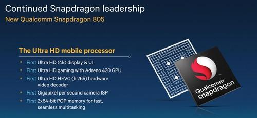 Qualcomm Snapdragon 805 slide