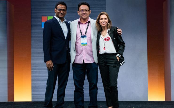 Vivek Puthucode (Microsoft); Gooi-Lee Tan (Rhipe) and Andrea Della Mattea (Microsoft)