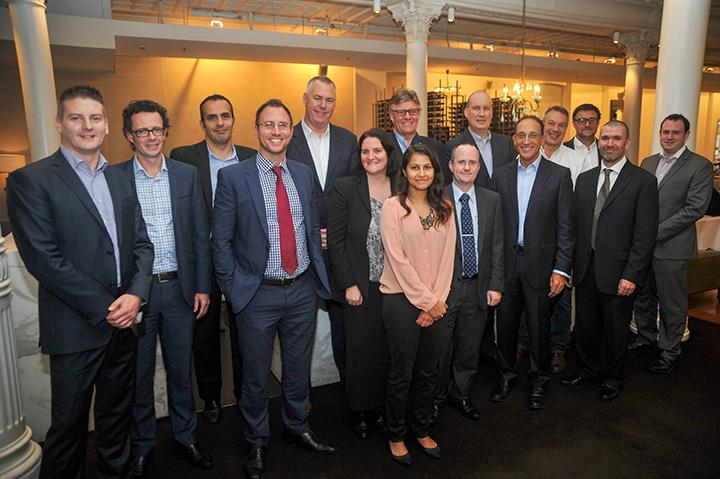 Attendees (left to right): James Leitch (Optus), 