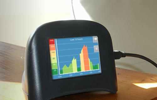 The US$200 Speck combines a particle sensor and machine-learning algorithms to gauge the level of PM2.5 pollution in the air, which has been linked to disease. Developed by Carnegie Mellon University's Robotics Institute, the sensor can provide information allowing users to make decisions about indoor ventilation and whether to install air filters.
