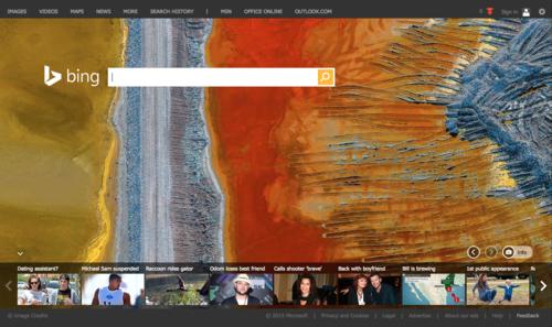 Bing's homepage