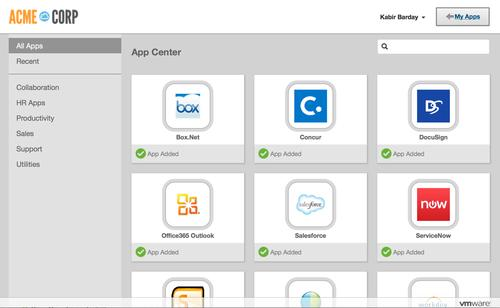 VMware's Identity Manager platform comes with a self-service to simplify app installation.