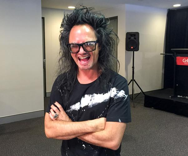 David Shing, aka Shingy, at CeBIT 2015 in Sydney