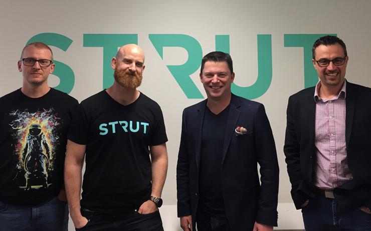 L-R - David Cheal (Strut); Tim Bradey (Strut); Kevin Russo (Deloitte) and Zack Levy (Strut)