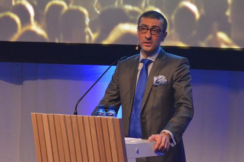 Nokia CEO Rajeev Suri spoke at a Barcelona press event on Sunday on the eve of Mobile World Congress.