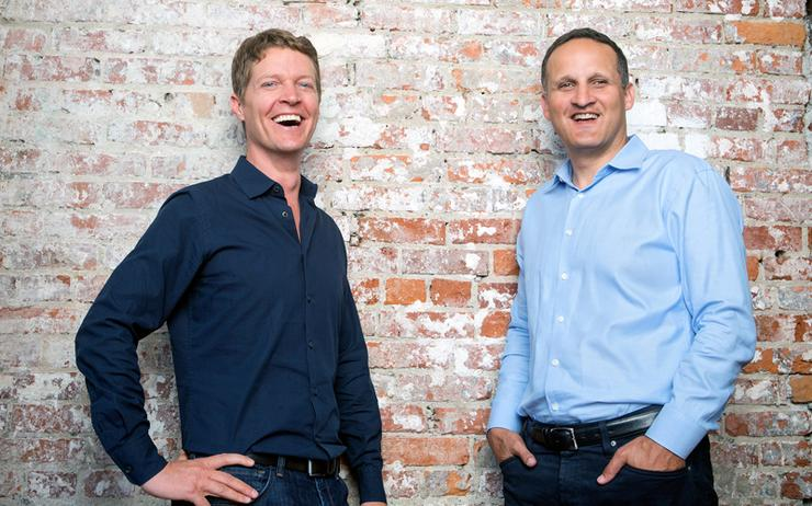 Christian Chabot (co-founder and chairman, Tableau) and Adam Selipsky (CEO, Tableau)