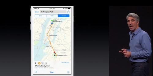 Transit in Maps app.