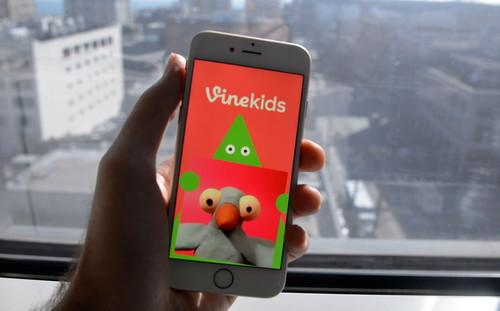Vine's new Kids app features kid-oriented videos users can scroll through.