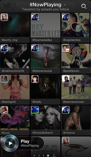Twitter Music app