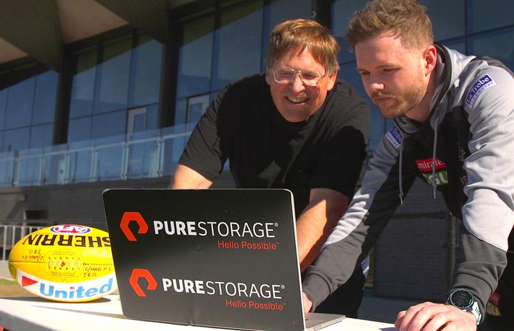Pure Storage CTO, John Colgrove, and Collingwood FC Performance Analysis Manager, Ash Collins